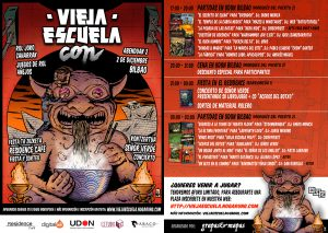 Flyer Vieja Escuela Con